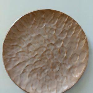 Assiette plate couleur Terracotta